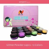 Glitter Powder / Glitter Bubuk 24 Pcs