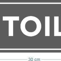 Custom Sign toilet akrilik