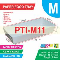 PTI-M11 White Paper Tray Ukuran M + Cetak 1 Warna & Laminating 1 Sisi