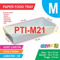 PTI-M21 White Paper Tray Ukuran M + Cetak 2 Warna & Laminating 1 Sisi