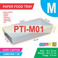 PTI-M01 White Paper Tray / Piring Kertas Ukuran M + Laminating 1 sisi