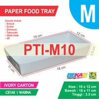 PTI-M10 White Paper Tray / Piring Kertas Ukuran M + Cetak 1 Warna