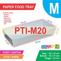 PTI-M20 White Paper Tray / piring Kertas Ukuran M + Cetak 2 Warna