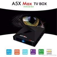 New A5X MAX Tv Box OS Android 9 Pie RAM 4GB ROM 32GB RK3328 FULL APPS