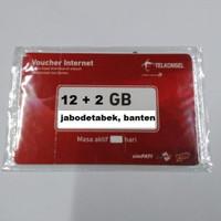 VOUCHER DATA TELKOMSEL 14 GB KUOTA 12+2 GIGA