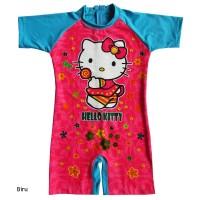 Baju Renang Diving Anak Karakter Hello Kitty BRDP-K050TK - Size L, Biru