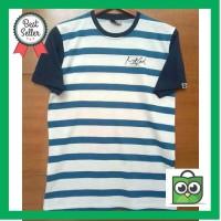 Harga best seller kaos reglan t shirt ripcurl salur motif garis putih | Pembandingharga.com