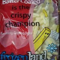 kentang frenchfriesh frozenland 500 gr butter coated (sudah ada rasa)
