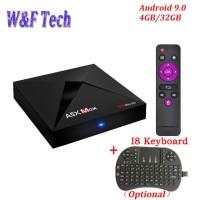 Paket Android Tv Box A5X MAX Android 9.0 4GB/32GB Dan i8 Mini Keyboard