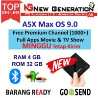 OS Terbaru Android Tv Box A5X MAX Android 9.0 Pie 4GB/32GB RK3328