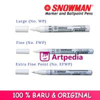 Spidol Snowman Paint Marker / spidol putih snowman / White Colour