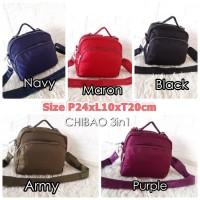 CB223 Tas Wanita Import Backpack Multifungsi CHIBAO 3in1