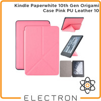 Kindle Paperwhite 10th Gen Origami Case Pink PU Leather 10
