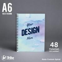 Notes A6 Spiral - 48 Halaman HVS / Buku Catatan / Blocknote Custom