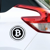 Sticker Decal Tutup Tangki Bensin Uang Kripto Criptocurrency Bitcoin