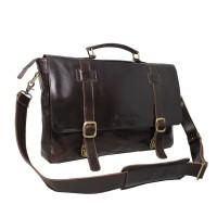 Messengger Leather Bag JRDN Darkbrown - Kenes leather