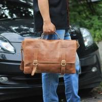 Messengger Leather Bag JRDNHavana - Kenes leather