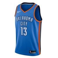 Pakaian Basket Nike Paul George Icon Edition Swingman Jersey Blue Orig