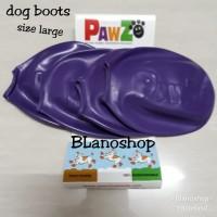 Pawz Dog Boots 2 Pasang - Ungu Size Large ORIGINAL