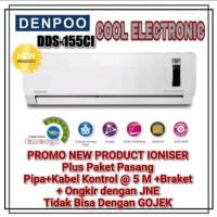 AC DENPOO 1/2 PK DDS-155CI LOW WATT IONISER PLUS PAKET PEMASANGAN