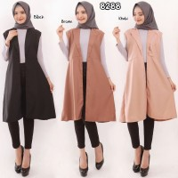 Rompi Outer Muslim Casual Vest Bahan Balotelli 8288