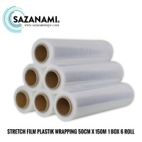 PROMO 1 BOX PLASTIK WRAPPING 50CM X 150M STRETCH FILM PLASTIC WRAP