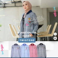Jaket Muslimah Hijacket Twistone All Variant | Jaket Wanita Cewek