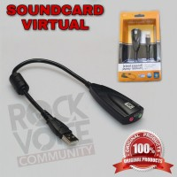 USB Soundcard Virtual 7.1 CHANNEL 5HV2 / Microphone & Audio