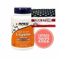 NOW FOODS L-LYSINE 1000 MG 100 TABLETS DOUBLE STRENGTH FOOD 1000MG