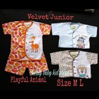 Velvet Junior Setelan pendek SML Playful /Baju tidur/ Piyama Animal