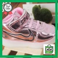 Harga sepatu led lampu anak cowok cewek england niki hitam merah | Pembandingharga.com