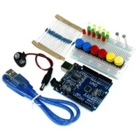 Arduino SMD Starter Kit UNO R3 mini Breadboard LED jumper wire button