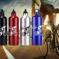 Botol Minum Bahan Aluminium Alloy Dengan Pengait 750ml - KHB078
