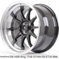 velg mobil (VIP) HIROSHIMA 756 HSR Ring 17X9.10 H4x100 ET30 BML