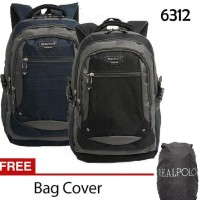 Promo Real Polo Tas Ransel   Backpack 6312 Gratis Bag Cover - 282d130546365