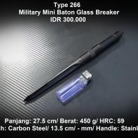 Pisau Outdoor Military Baton With Glassbreaker
