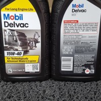 PAKET 12 BOTOL Oli Mobil Delvac MX 15W40 Botol 1 Liter - Ada Hasil Lab