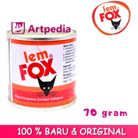 Lem Fox Kuning 70 Gram / Lem Fox Kuning Botol 70 Gram / Lem Serbaguna