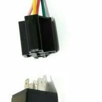 Socket + Relay Bosch / Penguat Arus 12 volt 30 Amp