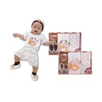 Baby Gift / Baby Set / Hadiah Bayi Newborn Cow Dark Brown