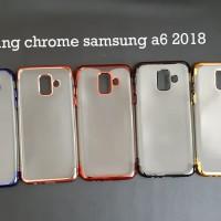 Samsung A6 2018 SHINING CHROME TPU CASE CLEAR Silicone Case