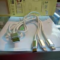 Kabel Data 3 IN 1 Universal untuk android,type-C dan i-phone