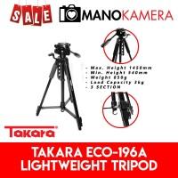 Takara ECO-196A Lightweight Travel Tripod Free Bag For DSLR Mirrorless