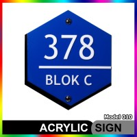 Nomor Rumah Akrilik / Acrylic Modern Minimalis Model 010