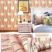 Wallpaper dinding 45cm x 10mtr   dandelion mocha