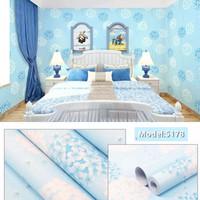 Dandelion flower blue uk.45cm x 10mtr - wallpaper stiker dinding
