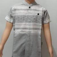 Baju Kemeja Koko Anak Al Fadla Premium Bagus Putih Navy Dongker