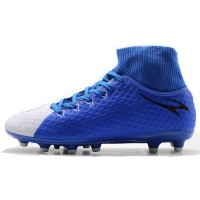 884c7587bba MAULTBY Men s Blue White High Ankle AG Sole Outdoor Cleats Football