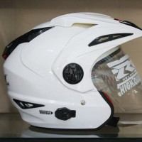 Helm RN Double Visor Putih mirip Ink t1