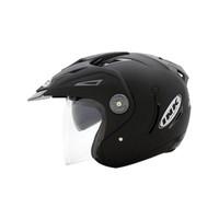Helm INK T1 Solid Hitam Double Visor Half Face